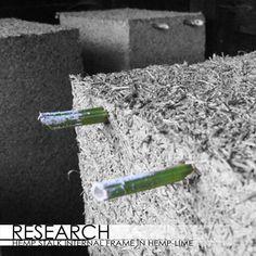HEMP ARCHITECTURE — hemp stalk internal frame in hemp-lime