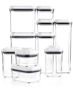 OXO 10-Piece Pop Container Set - Canisters & Pantry Storage - Cleaning & Organizing - Macys #macysdreamfund