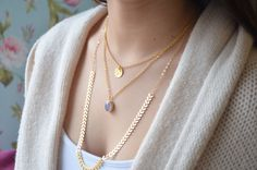Layer Necklaces Set , Layering Necklaces Set , Gold Necklace , Long necklace, Gold Filled chains by AlmaJewelryShop on Etsy https://www.etsy.com/listing/220359397/layer-necklaces-set-layering-necklaces