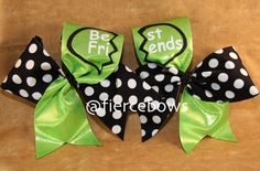 These bestfriends cheer bows are amazing. I would buy one for my cheer sista