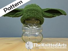 Ravelry: Newborn Knit Hat - Yoda Inspired Ears pattern by Sarah Rathwell