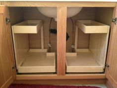 60 Trendy Kitchen Storage Cabinets Ideas Under Sink Kitchen Sink Storage, Diy Kitchen Shelves, Kitchen Drawers, Kitchen Organization, Kitchen Ideas, Kitchen Pantry, Organization Ideas, Kitchen Layout, Pantry Ideas