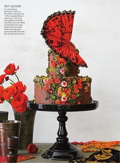 Don Quixote Spanish literature inspiration Cake design Maggie Austin Vía The Knot Fall 2015 twittear