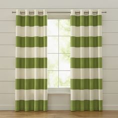 Fresh Striped Living Room Curtains