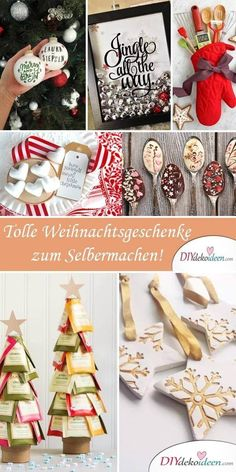 [ 25 geniale Bastelideen für DIY Geschenke zu Weihnachten Make DIY presents for Christmas. Whether a tree made of tea or a chocolate spoon, homemade gifts are very well received within the family. Christmas Eve can come! Diy Gifts For Christmas, Christmas Makes, Noel Christmas, Homemade Christmas, Christmas Decorations, Holiday, Christmas Ornaments, Diy Cadeau Noel, Navidad Diy