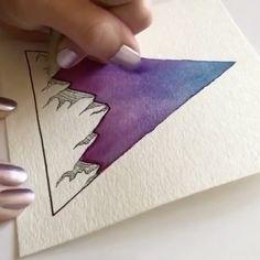 Galaxy Painting, Galaxy Art, Painting Inspiration, Art Inspo, Watercolor Print, Watercolor Paintings, Art Sketches, Art Drawings, Creation Art