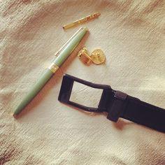 #KASPARI #carbonfiber #buckle #belt #gold #cufflinks #tieclip #pierrecardin #accessories #photoshoot - thats a mouthful, #igerslist
