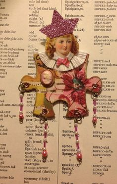 altered art dolls   Paper Doll Mixed Media Art Doll Altered by FancifulCollections, $10.00