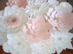 DIY Paper Flower Backdrop Baby nursery by DreamEventsinPaper