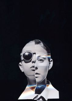 Ismaël Moumin photo collages.  He is a fashion photographer turned movie director based in Brussels.