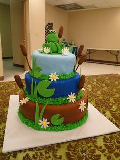 Baby shower..frog cake