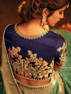 Green Silk Saree with Weaving