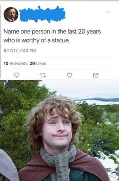 """""""Well, one yes. But what about a second statue? You Shall Not Pass, Bagginshield, One Does Not Simply, J. R. R. Tolkien, Funny Memes, Hilarious, Second Breakfast, Elvish, Thranduil"""