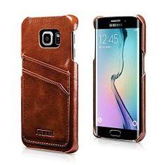 Découvrez les étuis spécialement conçus pour votre Samsung Galaxy S6 EDGE : iCareR. Coque en Cuir Véritable pour Samsung Galaxy S6 Edge (SM-G925 F) Étui Protecteur Haute Qualité | Design de luxe élégant | : Accès à tous les coloris