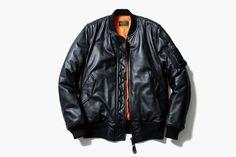 uniform experiment x Alpha Industries Leather MA-1