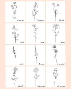 Dainty Flower Tattoos, Flower Bouquet Tattoo, Birth Flower Tattoos, Cute Tiny Tattoos, Little Tattoos, Mini Tattoos, Small Tattoos, Flower Finger Tattoos, Key Tattoos