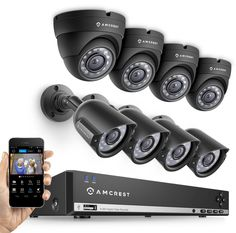 This is an AMCREST 8CH DVR Security Camera System with 1TB Hard Drive. Includes 8 Outdoor CCTV Cameras with IP66 Weather-Proof Housing and Motion Detection. Video quality is only 480P with 65' of night vision, but a better overall quality system