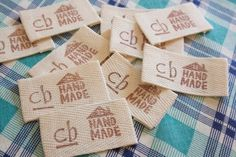 diy fabric labels :: a tutorial... great idea but a regular ink stamp pad doesn't stay on through wash... need a permanent fabric ink pad. These are great for A clothes for preschool!