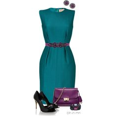 Colorful Dress with Black Shoes 2