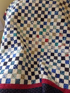 Love my checkerboard quilts. 2.5 inch cut