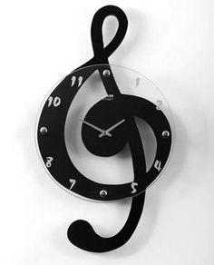A selection of music note frames and guitar frames for musician gifts. Music clocks for decorating your home or office include designs of treble clef, sheet music and piano keyboard. Black Home Furniture, Music Clock, Hanging Clock, Clock Wall, Cool Clocks, Modern Clock, Clock Parts, Clock Decor, Teen Girl Bedrooms
