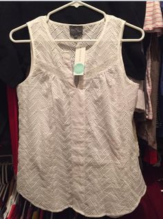 Love this cut and eyelet detail. Totally my style. Would love this in my fix.  Market & Spruce girona eyelet detail top