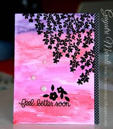 Love this distress water colored background. Handmade by G3