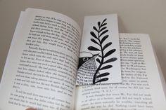 Bird ArtBookmarkBacktoschoolart miniature by sublimecolors on Etsy, $9.99