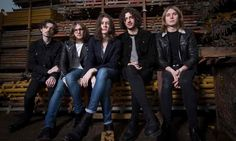 Stockport band Blossoms in the scaffolding yard belonging to bassist Charlie Salt's grandfather Rock Band Photos, Rock Bands, Blossoms Band, Scaffolding, Indie Fashion, Great Bands, Iphone Wallpapers, Music Bands, Make Me Smile