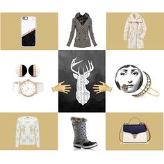 A fashion look from December 2016 featuring white knit sweater, woolen jacket and leather-sleeve coats. Browse and shop related looks. White Knit Sweater, Aspinal Of London, Sonia Rykiel, Jean Paul Gaultier, Marc Jacobs, Casetify, Shoe Bag, Toys, Winter