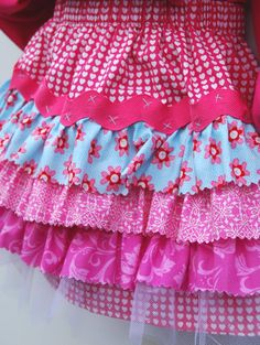 Raspberry Heart Skirt Boutique Clothing Little Girls by pinkmouse, $28.00