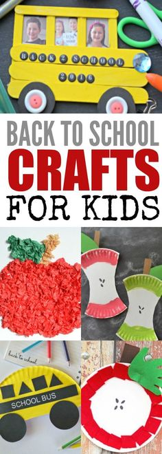 Find 15 back to school crafts kids will love. These crafts are perfect as summer comes to and end and we approach a new school year!