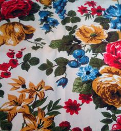 Check out this item in my Etsy shop https://www.etsy.com/listing/123154812/vintage-shabby-chic-heavy-floral-cotton