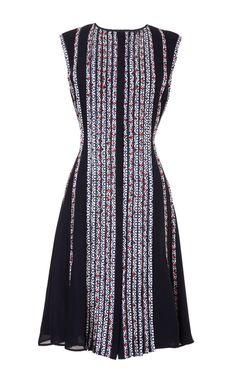 Petite Floral Print Day Dress by Oscar de la Renta - Moda Operandi