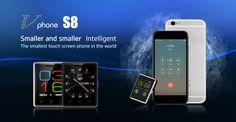 Original Mini Phone Vphone S8 Mobile Phone MTK2502 1.54″ 2.5D Touch Screen Bluetooth 4.0 380mAh Battery Pocket Phone ITEM SPECIFICATIONS:    General   Model Vphone S8   Platform MTK2502   ROM 128MB   RAM 64MB   Operation frequency GSM/ 850/900/1800/1900 ;   SIM 1 Mino SIM   Screen 1.54...