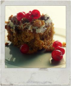 pumpkin and apple cake...a winning combination in this delicious treat