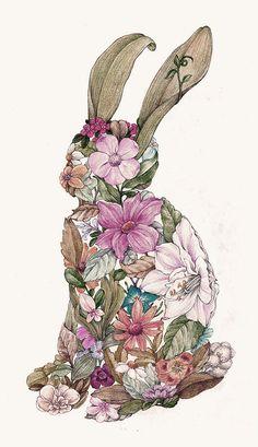 Spring Bunny by Louise Chen Easter Wallpaper, Animal Wallpaper, Graphic Design Illustration, Illustration Art, Lapin Art, Year Of The Rabbit, Bunny Art, Illustrations, Alice In Wonderland