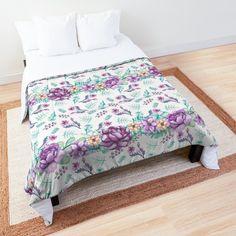 Purple Peonies, Kitchenware, Comforters, Duvet, Household, Shops, Community, Watercolor, Blanket
