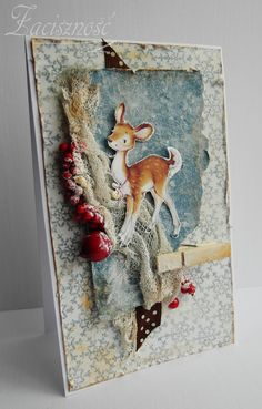 Kartka zimowa/ Winter card #handmade #card #winter
