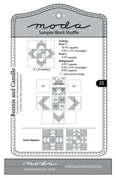 Moda Sampler Block Shuffle - Block # 25