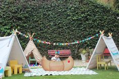 Cowboys and Indians Birthday Party by Catch My Party - 10 Kids Party Settings - Tinyme Blog