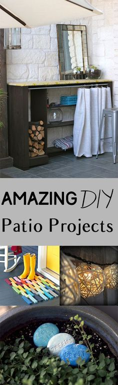 DIY patio projects, patio projects, easy patio projects, popular pin, yard and landscaping, outdoor living, outdoor projects.
