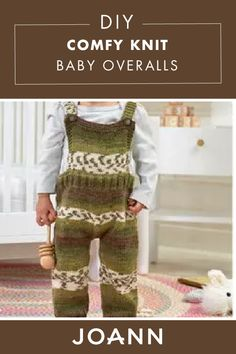 DIY COMFY KNIT-Knit your little one an adorable pair of these DIY Comfy Knit Baby Overalls for Christmas! Customize this cute craft with your favorite colors of yarn. Knit Or Crochet, Crochet Baby, Knitting Projects, Knitting Patterns, Baby Overalls, How To Purl Knit, Knitting Accessories, Baby Sewing, My Baby Girl