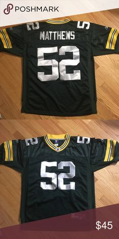 c2a005f6f4 Green Bay Packers NFL Clay Matthews Jersey Green Bay Packers NFL Clay  Matthews Jersey XL NFL Shirts