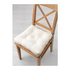 MALINDA Chair cushion IKEA Hook and loop fasteners keep the chair pad in place.