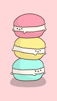 Cocoppa wallpaper | Kawaii Macarone Kittens