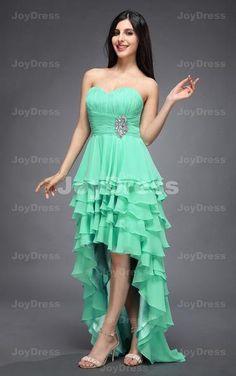 Layers A-line Sweetheart Asymmetrical Dress