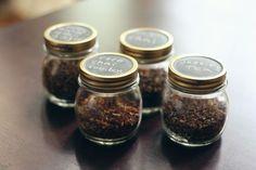Blackboard jam jar containers