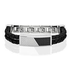 #AdoreWe #YesStyle Kenny & co. Cross Leather Bracelet (Black) Black - One Size - AdoreWe.com