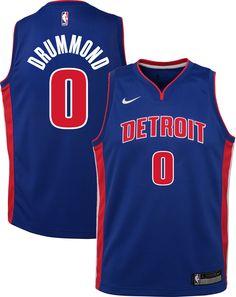 ae7afa540 Nike Youth Detroit Pistons Andre Drummond  0 Royal Dri-FIT Swingman Jersey